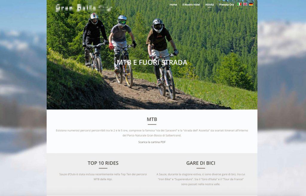 Esempio call to action bike hotel