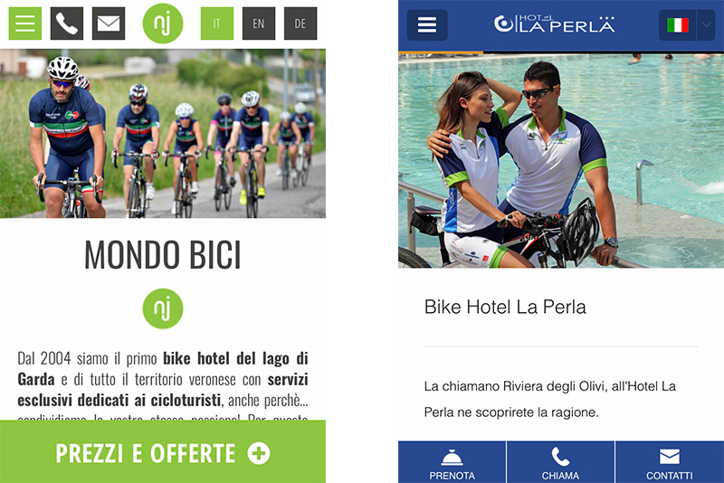 esempio sito internet bike mobile