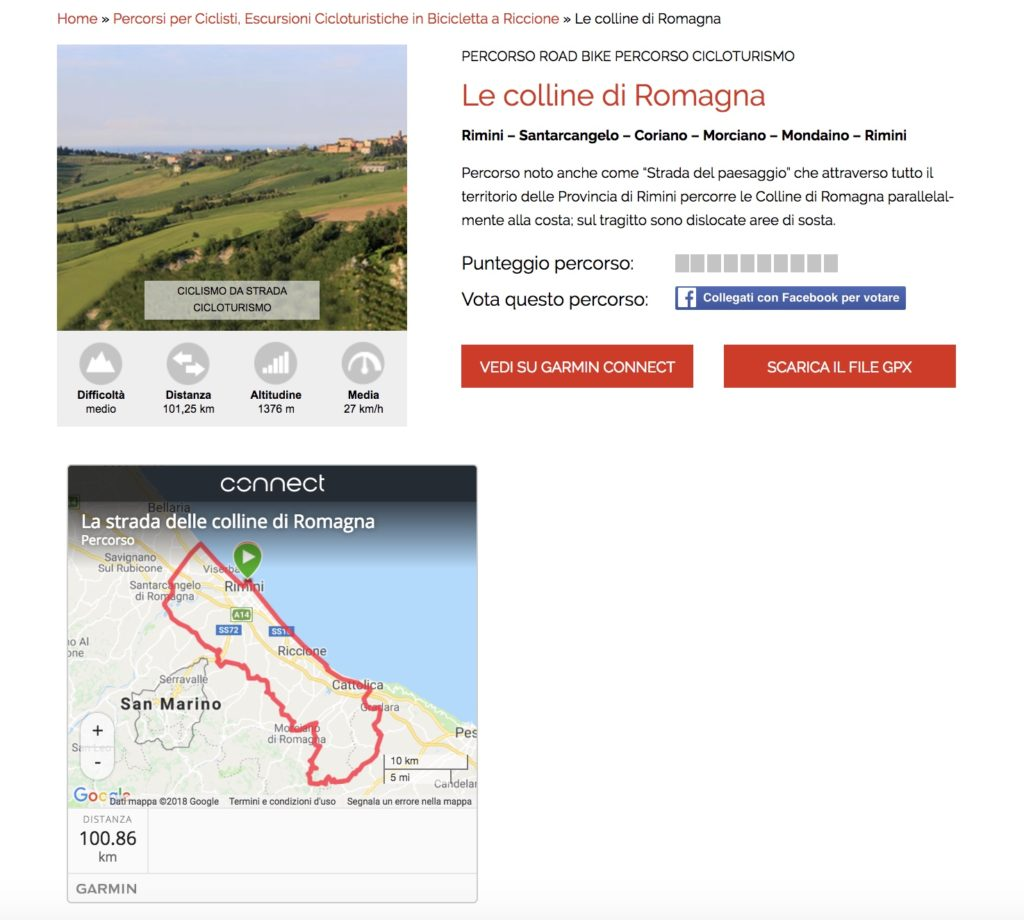 Tracciatura percorsi ciclistici con Garmin Connect